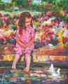 ホンビン・ヅォー「水辺のオアシス」版画