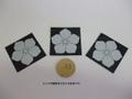 桔梗紋(印刷シール)3枚セット