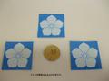 白桔梗紋(印刷シール)3枚セット