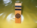 木製家紋盾「丸に十の字」