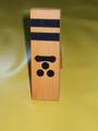 木製家紋盾「一文字三星」