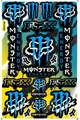 EMONSTER ENERGY(モンスターエナジー) FOX フォックス ステッカー B5 N006