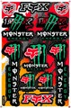 EMONSTER ENERGY(モンスターエナジー) FOX フォックス ステッカー B5 N009