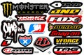 MONSTER OEVS ONE FOX SNAPON AMA MAXIMA TAG TLD VFORCE DUNLOP WORKS ステッカー B5 N069