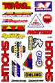 SHOWA KEVLAR NOLEEN NGK SPLITFIRE RACETECH RENTHAL AFAM OHLINS AIR DG KYB BOYESEN HONDA BRIDGESTONE ステッカー B5 N049