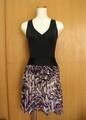 バレエ・プルオンスカート(黒紫モアレ模様)