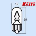 6V1.7W T10ウエッジ球 Koito 1482