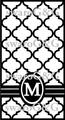 モロッカン・イニシャルリボン白×黒