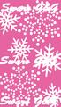 雪の結晶 ピンク・白