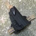 G-Code XST SIG P226R用 XST Holster/ RTI DROP LEG SINGLE Black FUZZ on TAN