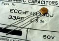松下 ECC セラミックコンデンサ 50V 33pF (±5%) [20個組]
