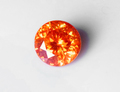 3.84ct大粒 情熱的なオレンジのテリとファイアがギラギラ煌く 極上最上級品スペイン産オレンジスファレライト