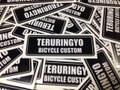 """TERURINGYO Type 2 ステッカー 小 """"ブラック×ホワイト"""""""