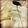 【TIP clothing】Cotton Jersey Short Sleeve vest
