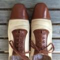 Genuine 1930's vintage W.L. DOUGLAS cap toe spectaor shoes