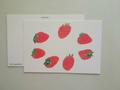 postcard いちご/strawberry
