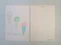 postcard アイスクリーム/icecream