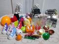 <鳥の知育系おもちゃ>ショッピングカート用小物9個セット