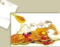 十姉妹とパンケーキのポストカード