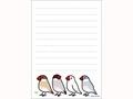 文鳥4羽メモ