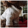 ざっくり編地オフタートルセーター 手作りワンコ服
