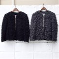 "ID DAILYWEAR ""Mix Yarn Fur Blouson"""