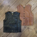 "Gypsy&sons ""Cut Leather Farm Vest"""