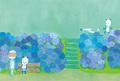 「紫陽花」ポストカード