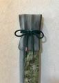 「水明」竹刀袋 先染め織 葡萄柄つる柄は繁栄を表します。
