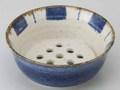 水切鉢 呉須十草