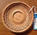 【ベトナム雑貨】籐製のコースターB