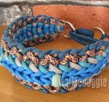 パラコード手編み首輪#265 30-37cm ハーフチョークマーティンゲール