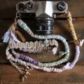 裂き布麻紐ヘンプカメラストラップ#6