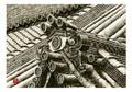 <素彩画>瓦絵の具で描く「瓦屋根」 A4アートポスター