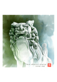 <水彩画>「狛犬」 A4アートポスター