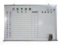 壁掛ホワイトボード(行先予定) W900×H600