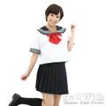 セーラー服2(えんじリボン)