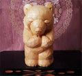 木彫り熊 米ヒバ 恋くま 乙女の祈り 三作目