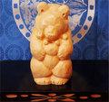 木彫り熊 米ヒバ くまりあ 六作目