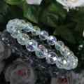レインボークリスタル(オーロラオーラ水晶)64面カットAAA 天然石ブレスレット10mm