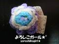 ヘアーピン よろしこの花(青)001