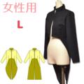 ハイネック燕尾ジャケットのダウンロードの型紙 婦人Lサイズ