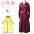 テーラードカラーのコートのダウンロードの型紙  婦人Lサイズ