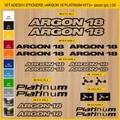 ARGON 18, PLATINUM   MTB ロードバイク,サイクル ステッカー,ステッカーキット,