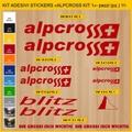 ALPCROSS, MTB ロードバイク,サイクル ステッカー,ステッカーキット,