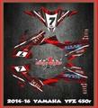 Yamaha YFZ 450R, YFZ 450 14-20, KIT Faast3, ATV QUAD, グラフィック ステッカー デガール cwg