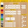 ARGON 18, MTB ロードバイク,サイクル ステッカー,ステッカーキット,