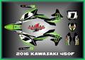 Kawasaki KX450F KXF450 16-18, KIT MUDFLAPS グラフィック ステッカー デガール CWG