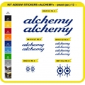 ALCHEMY, MTB ロードバイク,サイクル ステッカー,ステッカーキット,