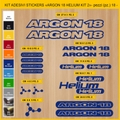ARGON 18, HELIUM MTB ロードバイク,サイクル ステッカー,ステッカーキット,